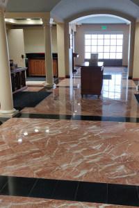 Church polished concrete floor