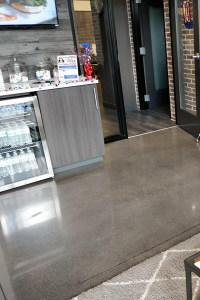 Dental Office Polished Concrete Waiting Area